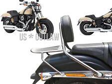 Sissy Bar Chrom für Harley Fat Bob 1690 mit dem neuen Heck Baujahr 2014 - 2016