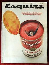 Esquire Magazine ~ May 1969 ~ Andy Warhol ~ Campbell's Tomato Soup Can