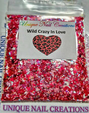Limited Edition Glitter Mix~WILD CRAZY IN LOVE* Comes With Alloy~ Nail Art