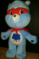 "2010 NANCO GRUMPY BLUE WITH MASK & CAPE 18"" CARE BEARS"