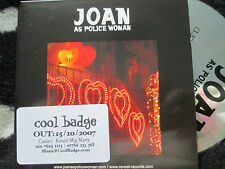 Joan As Police WomanI Defy Reveal Records Reveal 32P Promo sticker UK CD Single