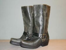 2000's Women's Slate Grey Bike Boots By Penny Kenny Size 6 M USed and GREAT!