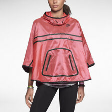 NIKE HOODED cape PONCHO PINK CORAL BLK SIZE SMALL RAINCOAT rpp £75 feastival