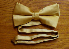 Gold Bow Tie Pre Tied Matte Satin Tuxedo Wedding Prom Groom Formal Baja