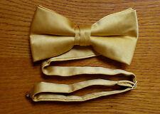 Gold Bow Tie Pre Tied Matte Satin Tuxedo Wedding Prom Groom Formal Baja