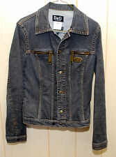 Rare Dolce & Gabbana D&G Black Denim Jean Jacket Authentic Made in Italy Size S
