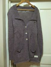 ODD MOLLY 336 Lovely Boho Folk Vintage Purple Alpaca Mix Cardigan 1 uk 8-10