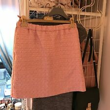 Marni Metallic Pink Mini Skirt NWT Size10 uK Italian 40 Small Jacquard Brocade