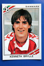Panini WC MEXICO 86 STICKER N. 362 DANMARK BRYLLE WITH BACK VERY GOOD/MINT