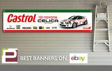 Toyota CELICA GT-Cuatro Banner para taller, garaje, Carlos Sainz Rally, Castrol