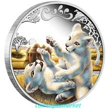 2016 Australia The Cubs – White Lion 1/2oz Silver Proof Coin Perth Mint OGP!!!