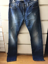 DIESEL Homme Jean Bleu Used Blue Jeans Trousers SAFADO T W33 L34