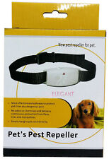 Dog Cat Ultrasonic Pet's Pest Flea Animal Insect Repeller Collar Water Resistant