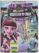 MONSTER HIGH THE ORGIN STORY (DVD, 2016, Includes Digital Copy) WITH SLEEVE