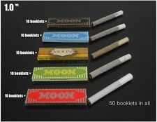 Moon 5 colors 50 booklets Mixed Pack Rolling Papers 70*36mm 2500 leaves