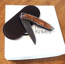 CHRIS REEVE New Thuya Wood Handle Mnandi Ladder Damascus Blade Knife/Knives