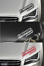TOYOTA PERFORMANCE CHECKS - Headlight - CAR DECAL STICKER ADHESIVE - 300mm long