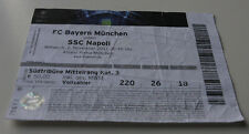 Ticket for  collectors CL Bayern Munchen SSC Napoli 2011 Germany Italy