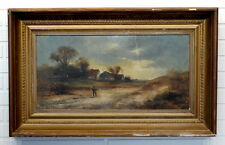 ANTIQUE Vintage RURAL LANDSCAPE Victorian Painting SIGNED FRANZ MEYERS