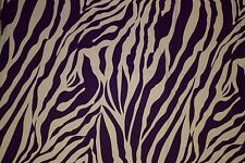 Purple White Animal ITY Print #106 Stretch Polyester Lycra Spandex Fabric BTY