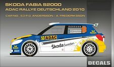 DECALS 1/24 SKODA FABIA S2000 #53 ANDERSSON RALLYE ADAC 2010 - MF-ZONE DC2413