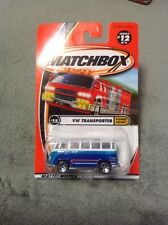 92215 MATCHBOX 2001  #12/75 HIGHWAY HEROES VW TRANSPORTER BLUE/WHITE
