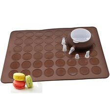 Journey's Edge 6 Piece Macaroon Kit with Baking Sheet  Decomax Pen, Brown