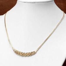 Moda Oro Cristal De Lujo Drill Elegante Hembra corto clavícula Collar de cadena