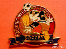Official Disney - Mickey Mouse : Winning With Character Soccer Pin Badge