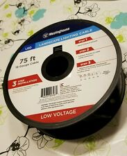 75'  LED Low Voltage 18/2 Underground Landscape Lighting Cable 18 Gauge Wire NEW