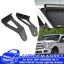"2X 50-inch 50"" LED Light Bar Roof Mounting Bracket Fit 84~01 85 Jeep Cherokee XJ"