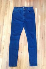 Urban Outfitters High Waisted Dark Rinse BDG Skinny Jeans in Size 27