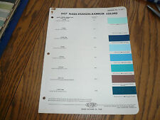 1957 Nash Hudson Rambler DuPont Duco Color Chip Paint Sample - Vintage