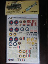 1/72  VINTAGE ESCI DECAL N°30 GB BRISTOL BEAUFIGHTER