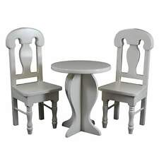 """18"""" Doll Kitchen CAFE TABLE & TWO CHAIRS Fits American Girl Furniture Accessory"""