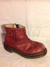 Girls Dr. Martens Red Leather Boots Size 12