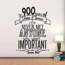 Doctor Who 900 Years Of Time & Space Important Vinyl Wall Decal Sticker