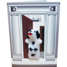 Dalmatian Hand Knitted Finger Puppet Greeting card