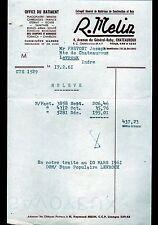 """CHATEAUROUX (36) MATERIAUX de CONSTRUCTION """"R. MELIN"""" en 1961"""
