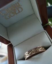 Clogau Welsh 9ct Rose & Yellow Gold Celtic Eternal Love Annwyl Ring - size V