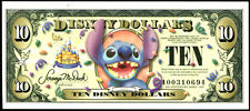 "2005  Disney Dollar $10  ""A""  STITCH  Bar Code  Disneyland  crisp MINT"