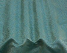 "Gold/Blue Silk/Metallic Brocade Jacquard Fabric, 44"" Wide, By The Yard (JD-391C)"