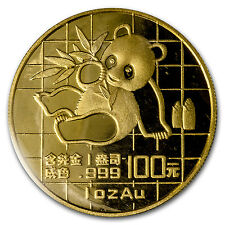 1989 China 1 oz Gold Panda Large Date BU (Sealed) - SKU #64672