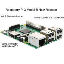 Raspberry Pi 3 Modèle B 1Go RAM Quad Core 1.2G 64 Bit CPU Bluetooth WiFi à bord