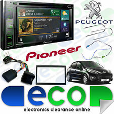 "Peugeot 207 06   Pioneer 6.2"" CD DVD MP3 USB Aux Bluetooth DAB Double Din Stereo"