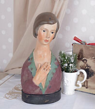 VINTAGE BUST JEWELERY BUST WOMAN'S HEAD SHABBY CHIC GIRLS BREASTS