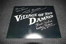 Village of the Damned signed autógrafos Lesley & Teri Scoble inperson Look