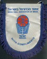 ISRAEL BASKETBALL FEDERATION SMALL PENNANT #2 14x15cm