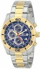 New Mens Invicta 16082 Swiss Chronograph Two Tone Steel Bracelet Watch