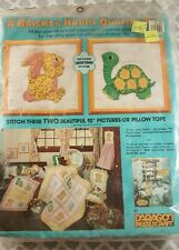 RARE Vintage New PARAGON Needlecraft Bunny and Turtle Baby Quilting Kit 5021